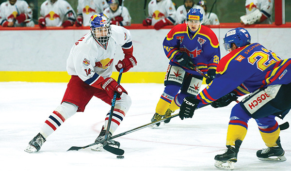 NICO FELDNER and the EC Red Bull Salzburg under-20 team will take on the Penticton Vees Wednesday at the South Okanagan Events Centre at 7 p.m. as part of their tour of the BCHL
