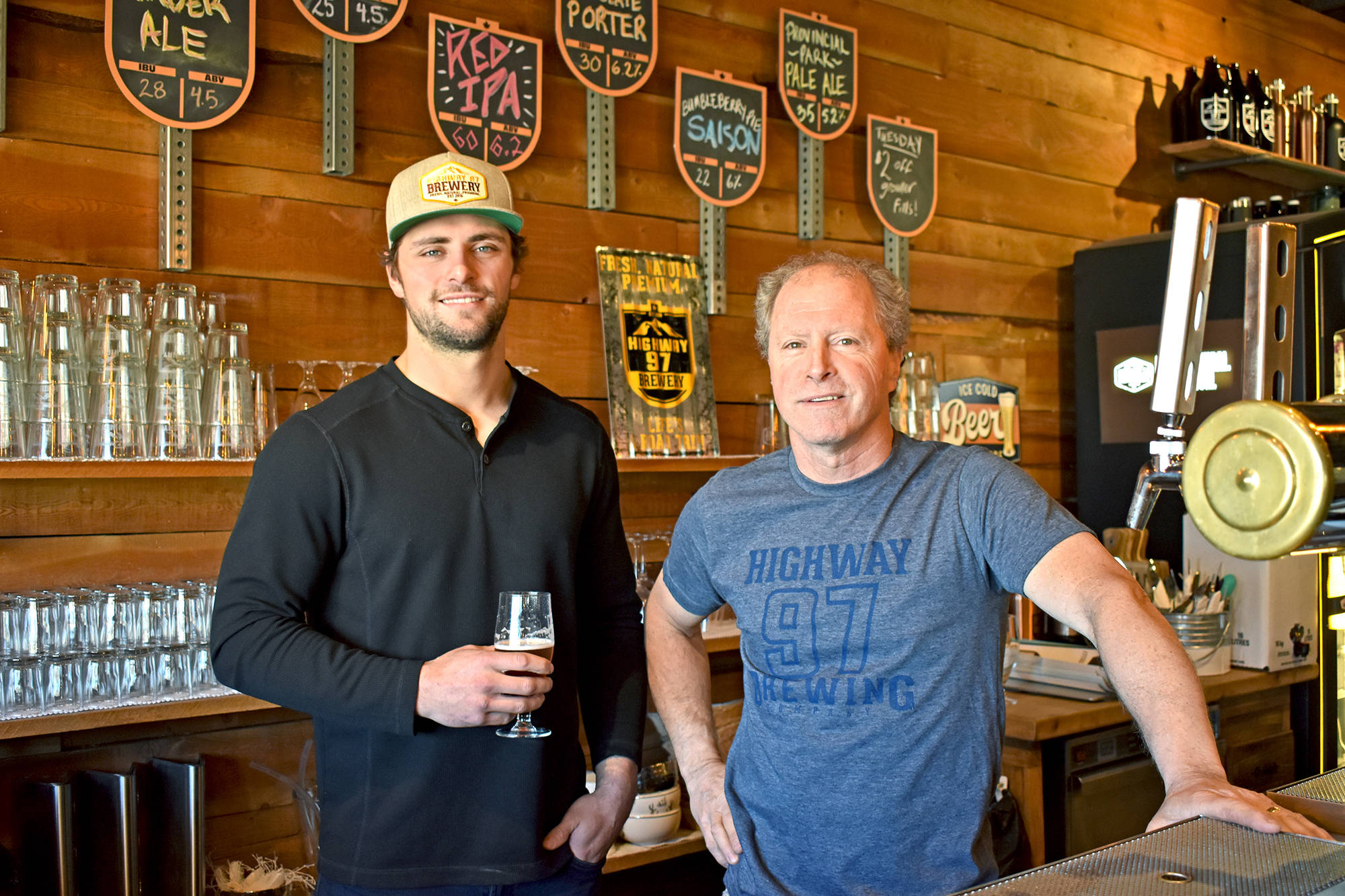 Highway 97 Brewing owners Nick and John Kapusty are excited about moving to downtown Penticton at 200 Ellis St. with a bigger taproom and and patio. (Western News file photo)